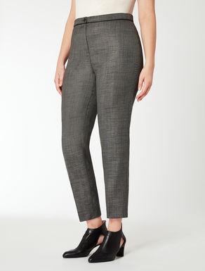 Pantalone slim fit tinto filo