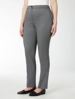 Pantalone jacquard con dettagli lurex