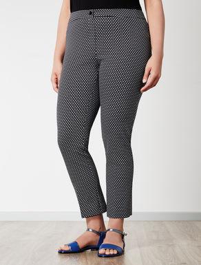 Pantalone linea comfort a fantasia