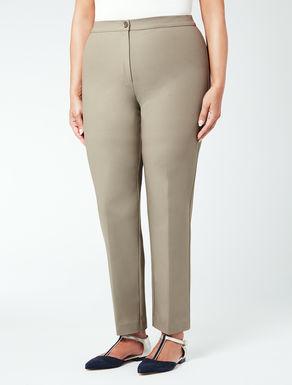 Pantalone in doppio cotone stretch