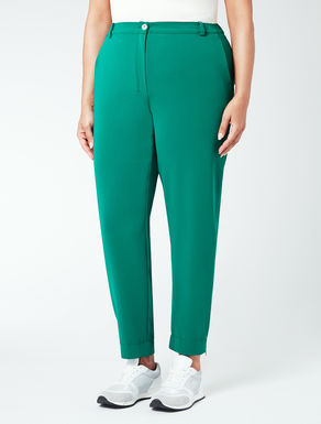 Pantalone linea diritta con elastico