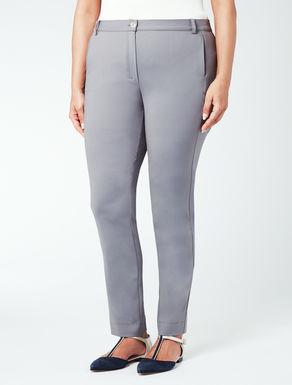 Pantalone super slim in cotone-nylon