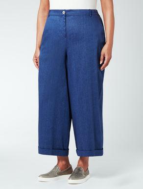 Pantalone over in lino e cotone