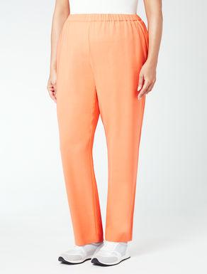 Pantalone in fluido crêpe con elastico