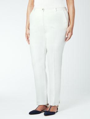 Pantalone in cotone crêpe stretch