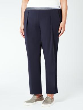 Pantalone jogging in tessuto fluido