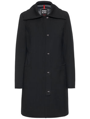 Coat with maxi collar