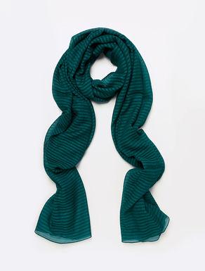 Sciarpa in seta con texture a righe