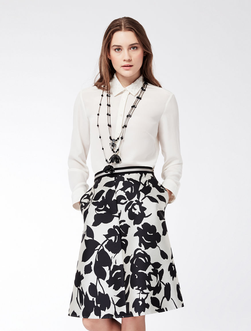 Silk shirt with embroidered collar Weekend Maxmara