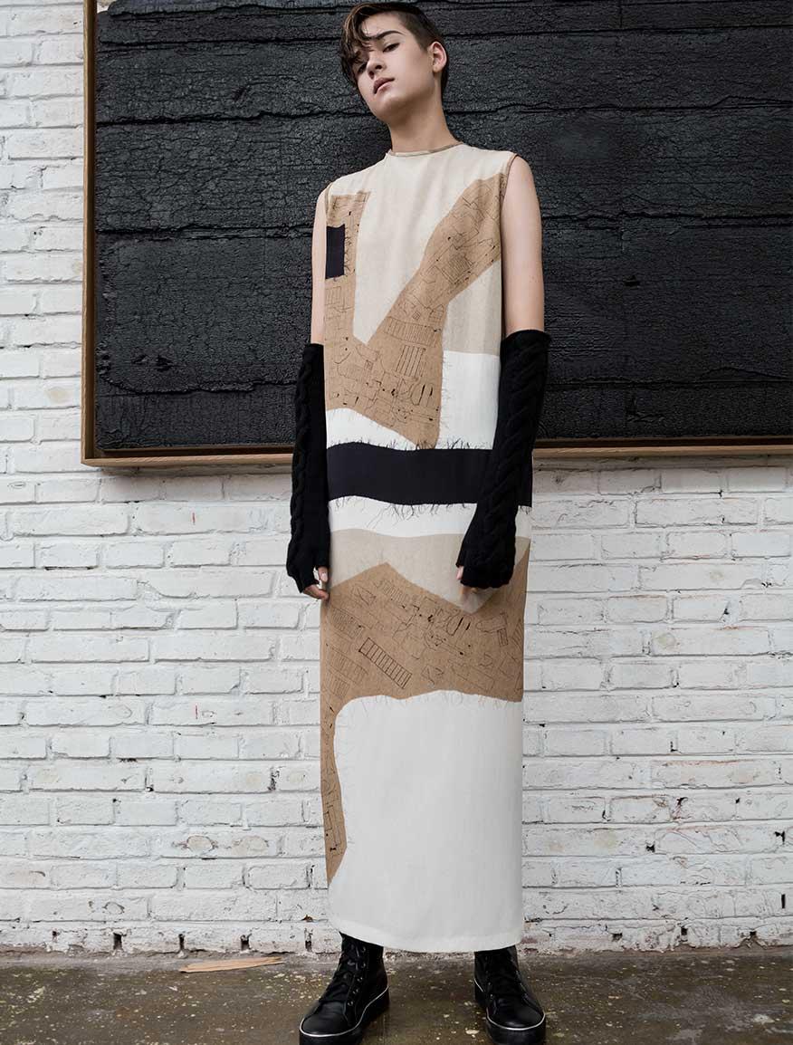 Robe longue pure soie crêpe de Chine