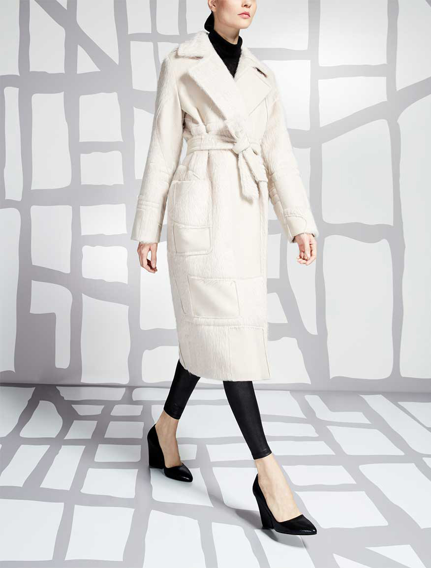 Wool, alpaca and angora coat