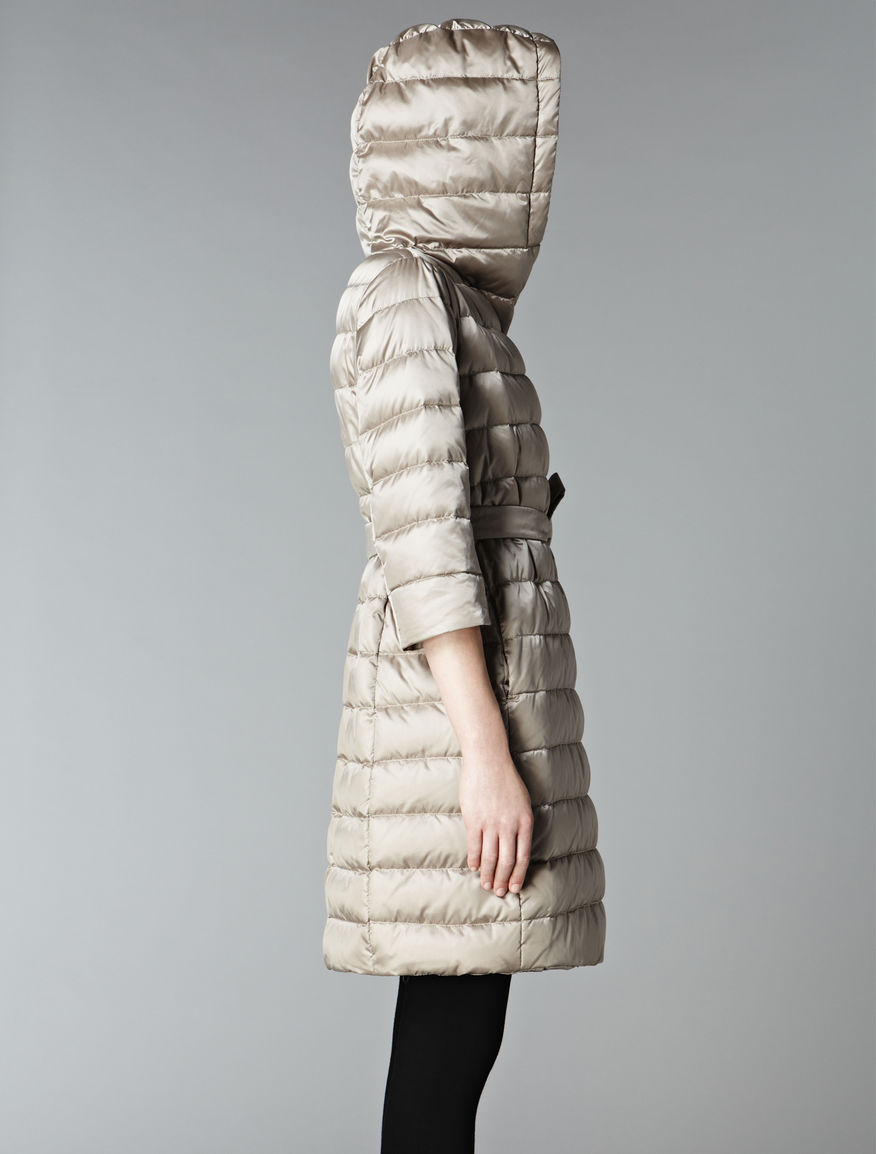 Reversible wrapover down jacket