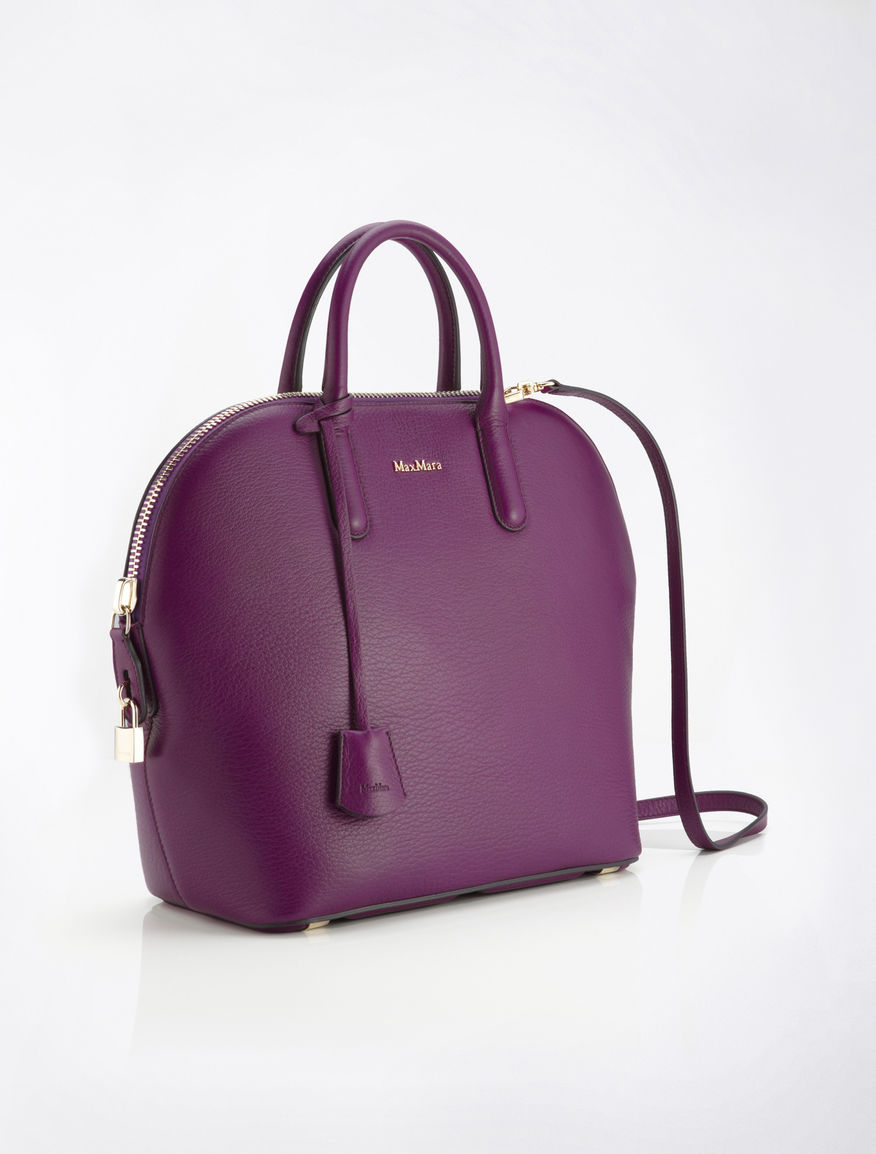 Purple deerskin Ali bag