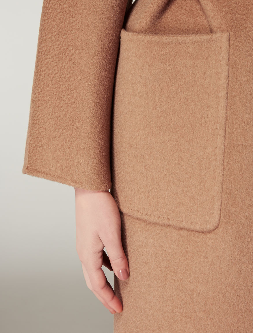 Reversible camel coat