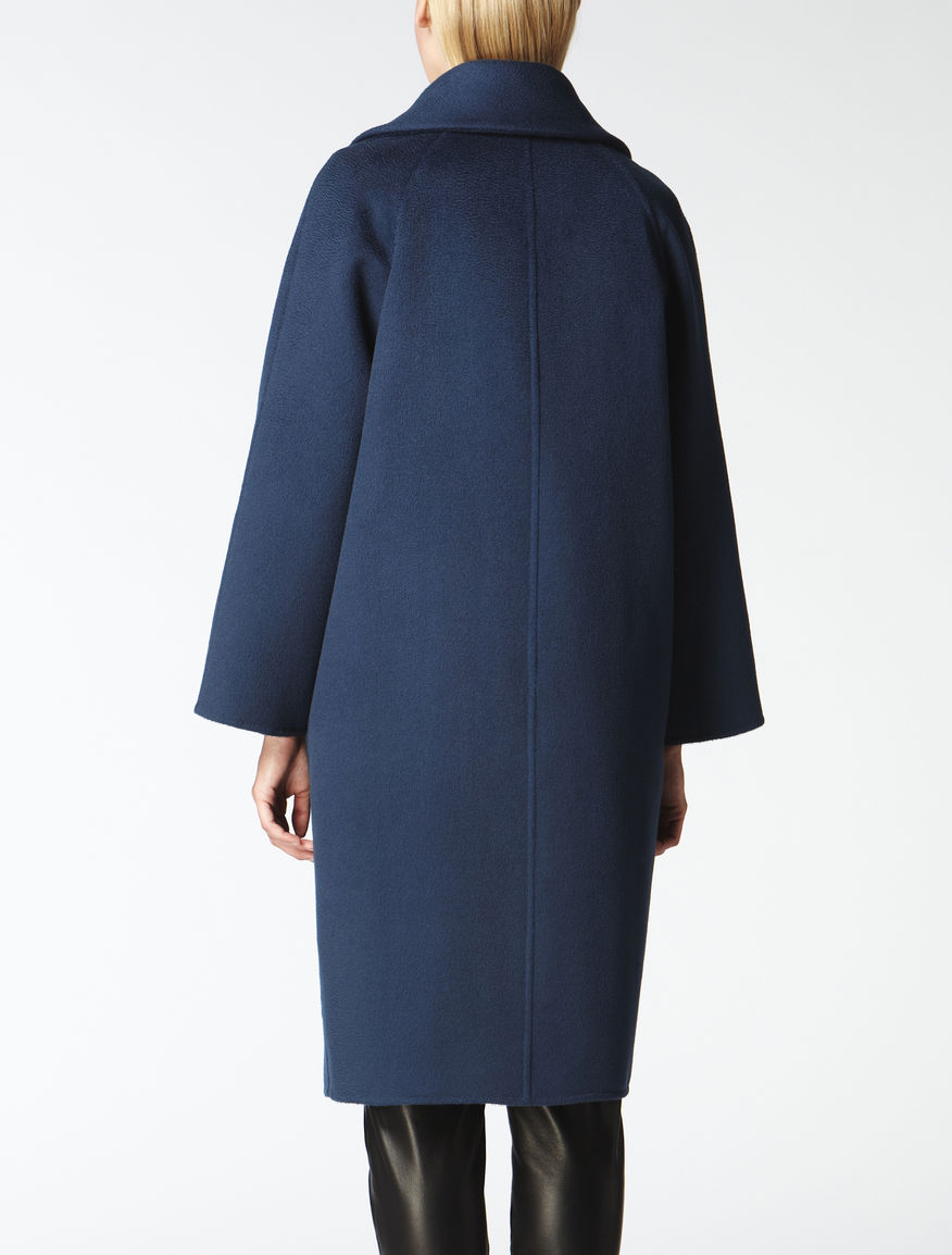 Cashmere, wool and angora coat