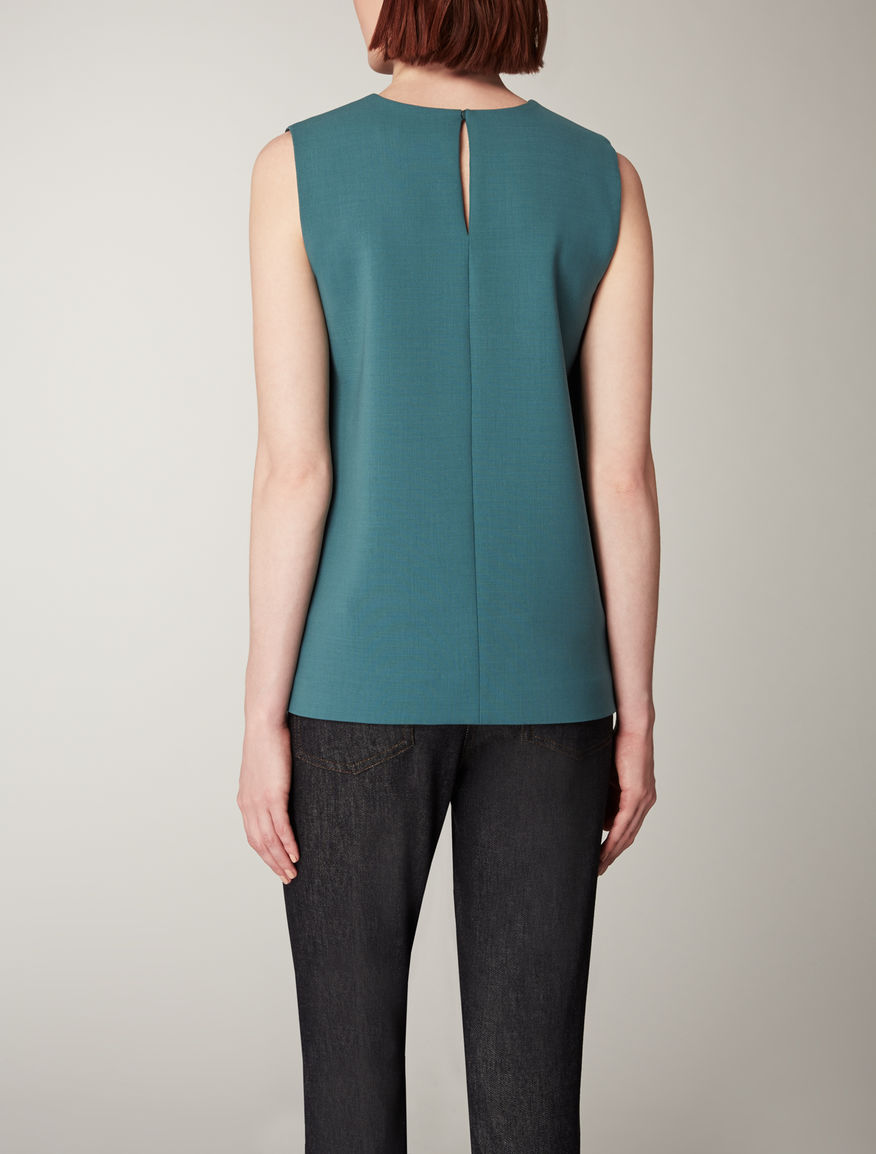 Wool crepe top