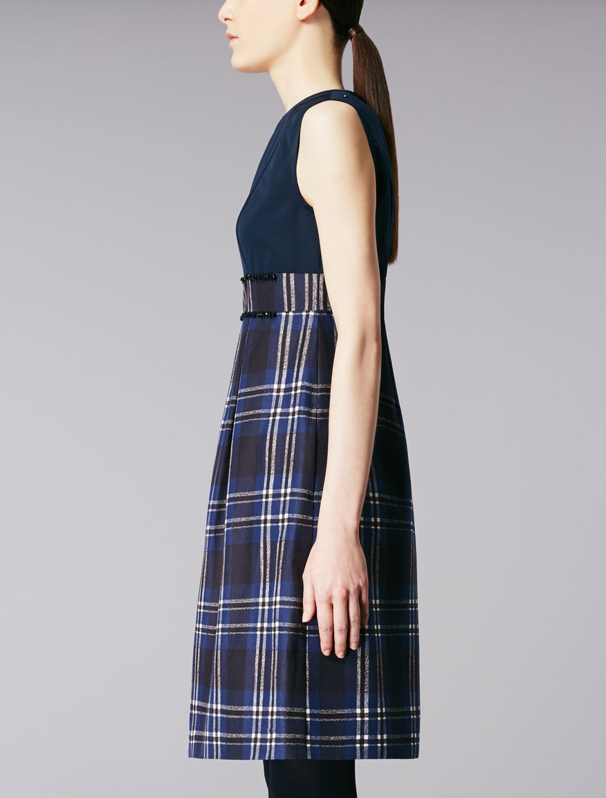 Printed cotton faille dress