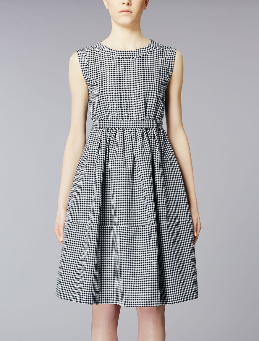 Ramié and cotton dress