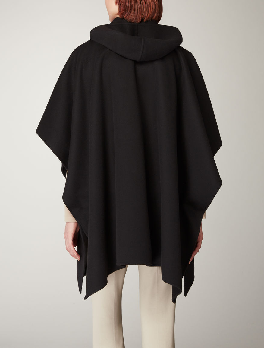 Wool, angora and cashgora cape