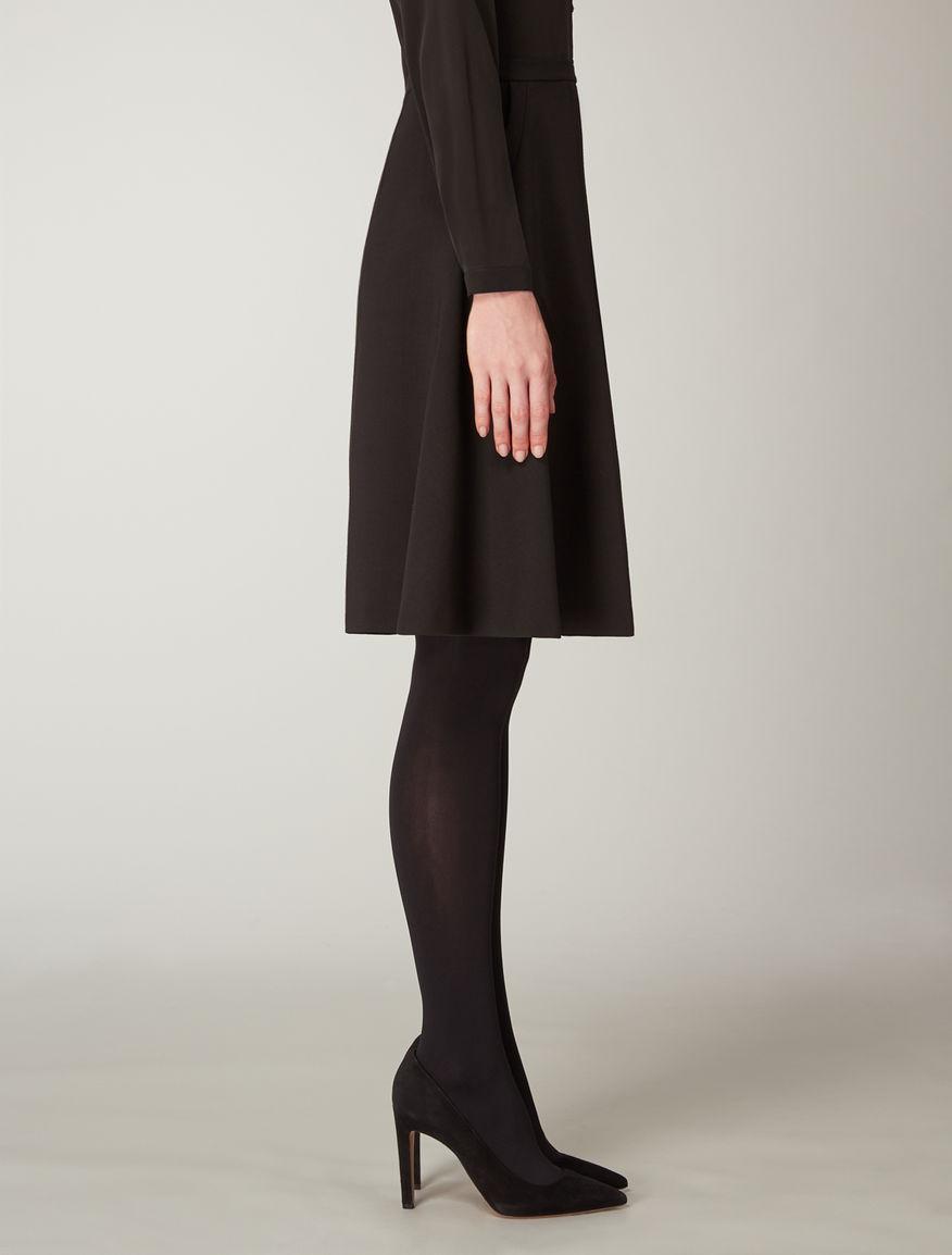 Wool crêpe skirt