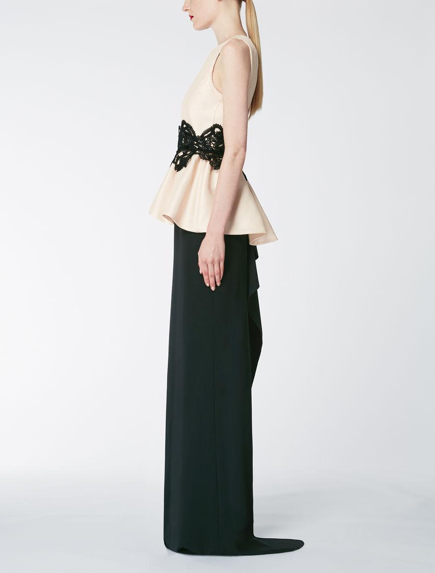 Viscose and silk dress