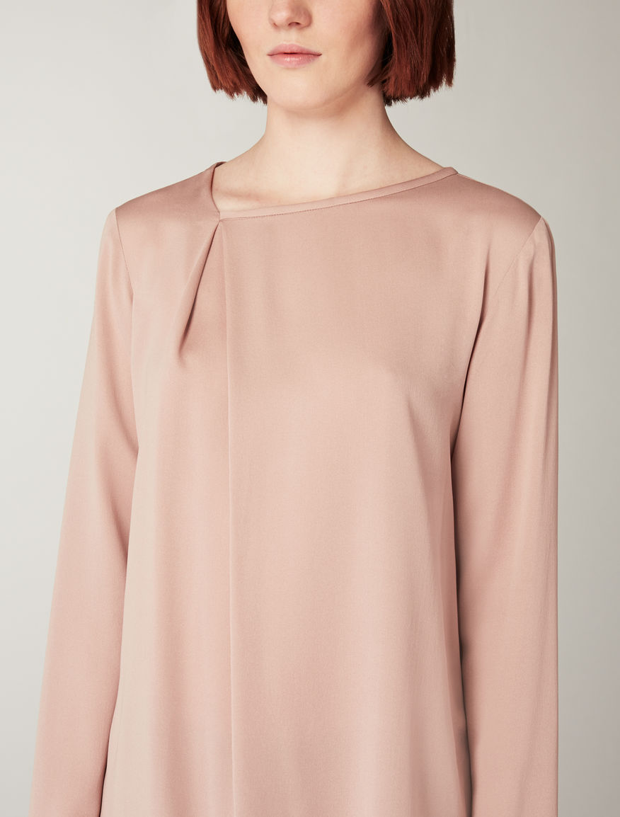Washed silk blouse