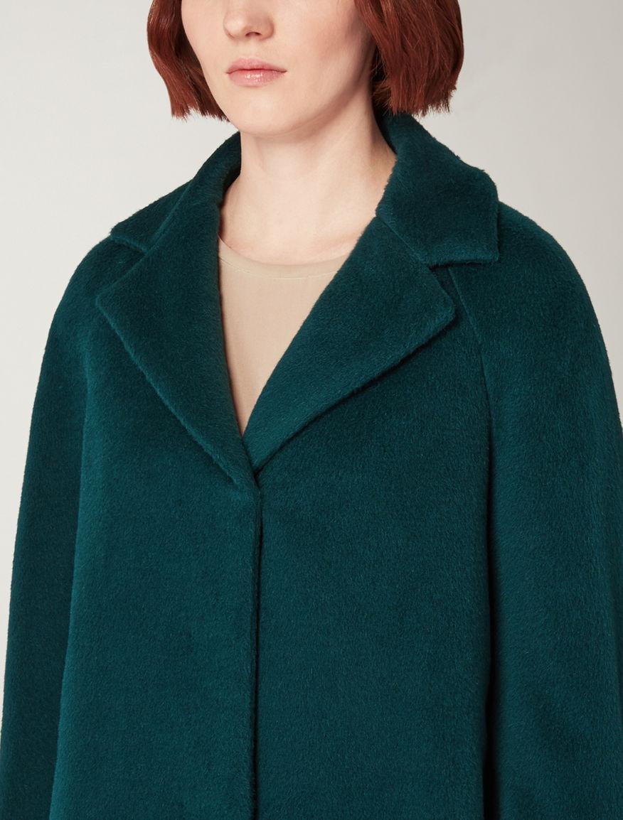 Alpaca and wool overcoat