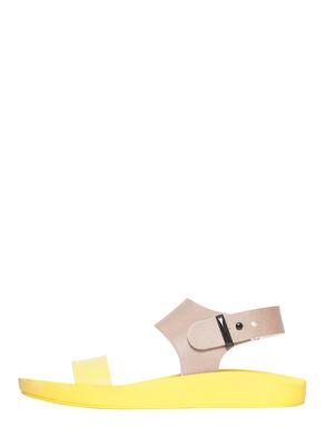 Sandali di pelle bicolore
