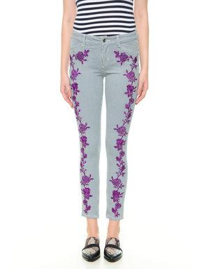 Pantalone con ricamo