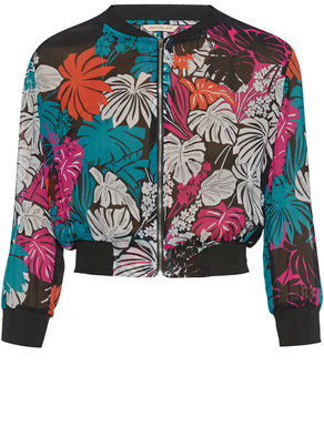 Bomber in georgette