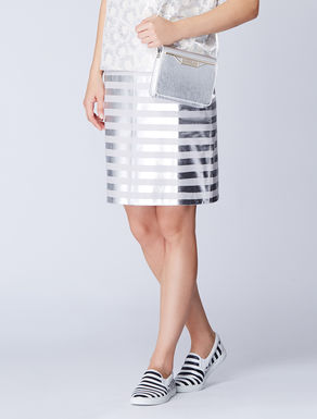 Foil printed Nappa leather skirt