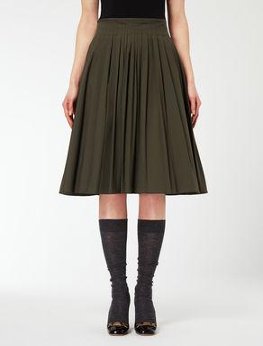 Falda de poplin de algodón