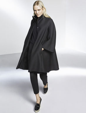 Reversible fur-coat