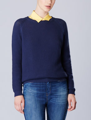 Moss stitch knit shirt