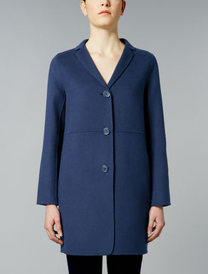 Wool and angora double coat