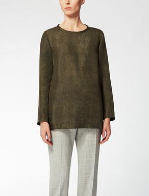 Camisa de sarga de seda
