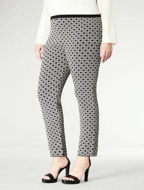 Pantalone pull-on con stampa ottica