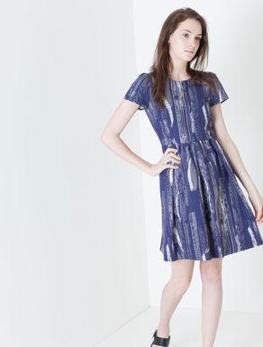 Corolla Dress di canvas stampato