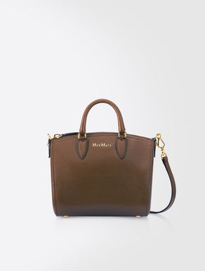 Mini Ginevra leather bowling bag
