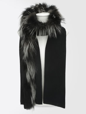 Wool and fur scarf