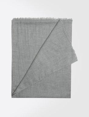 Stola aus Modal und Wolle