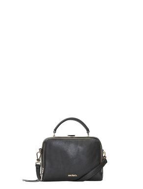 Multi-zip leather shoulder bag