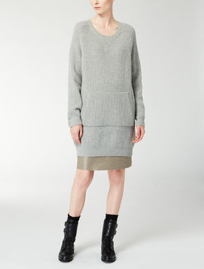 Wool and cashmere knit shirt
