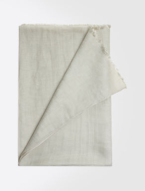 Silk and linen scarf