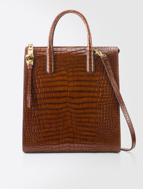Leather Audrey shopping bag