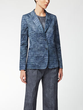 Cotton and viscose jacquard jacket