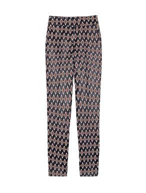 Pantaloni slim fit a disegno jacquard
