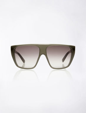Square green sunglasses