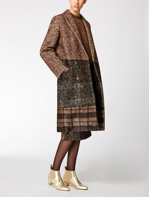 Printed patchwork coat