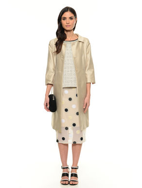Cappotto in shantung